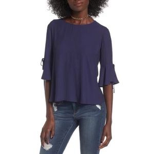 Lush Bell Sleeve Tee Eclipse Blue Large